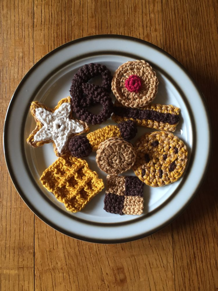 Kekse Für Emma Häkeln Kekse Kinderküche Kaufladen