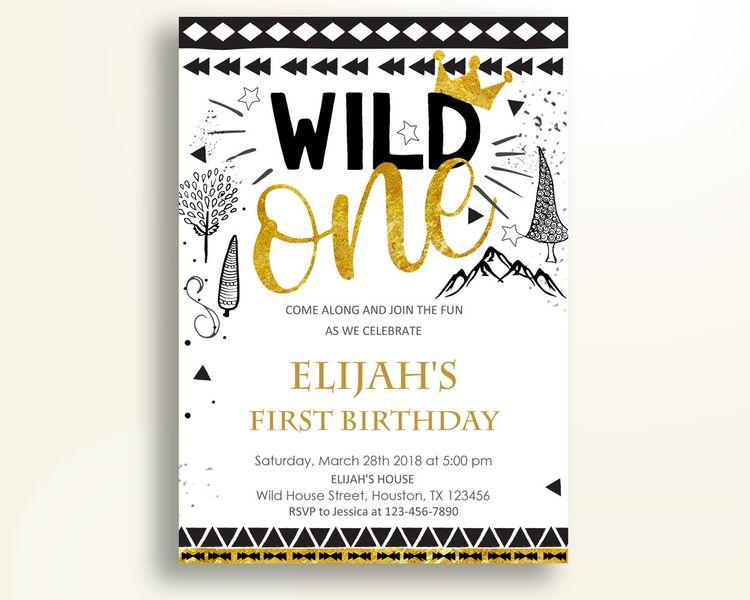 Wild One Birthday Invitation Party