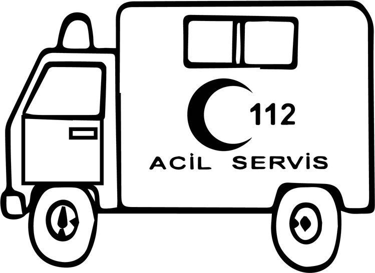 Okul öncesi Ambulans Boyama Sayfası Boyama Sayfası çıktısı