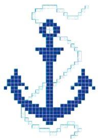 Decor Mosaique Piscine Ancre 66x100 Cm Unite Onix