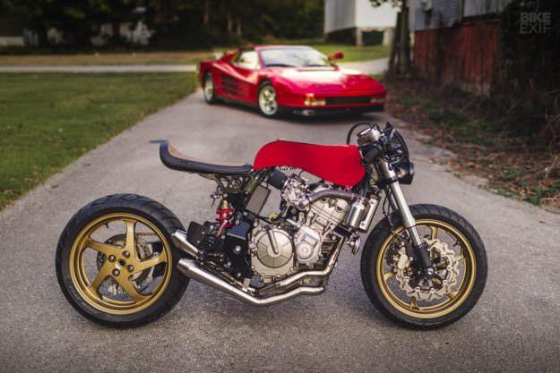 Rosso Corsa: A Honda Cafe Racer Inspired by a Ferrari   Bike EXIF
