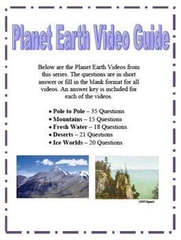 Planet Earth Deserts Worksheet Answers