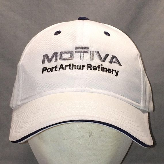 32de12b5800 Vintage Motiva Port Arthur Refinery Hat White Black Gray Baseball Cap Cool  Dad Hats For Men Gift Ideas T19 JL8122