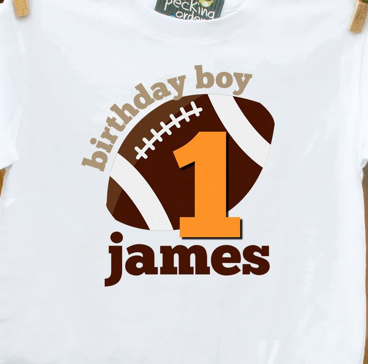 Personalized Kids Shirtfootball Boy Birthday Party T Shirt