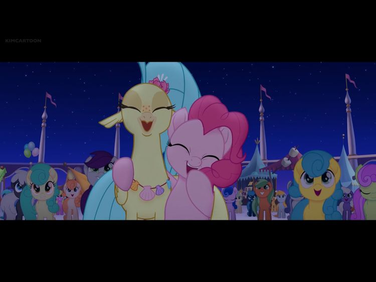 Princess Skystar and Pinkie Pie