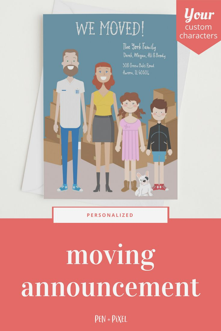 Moving Announcement New Home Moving Cards Change Of Add