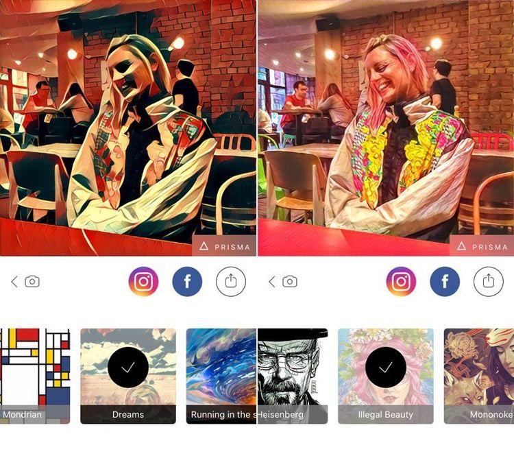Filtros de fotos inspirados na arte do aplicativo 'Prisma' levam a mídia social à tempestade