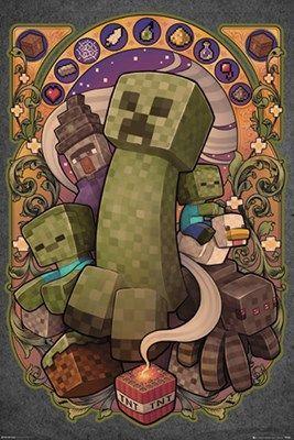 Creeper de Nouveau de Minecraft Poster