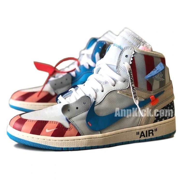 725f43cf4c9 Parra x Off-White x Air Jordan 1 customize Shoes Custom Made Jordans