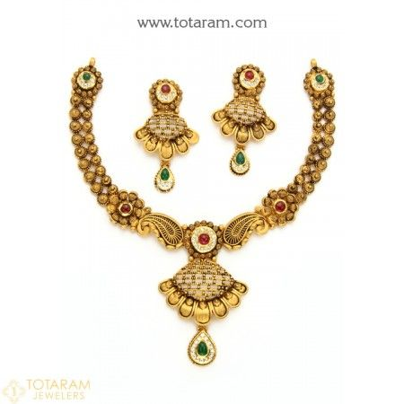 b95f423421 22K Gold Antique Necklace Sets