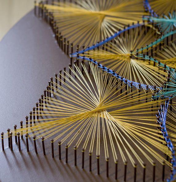 String Art SRI YANTRA sacred geometry meditation wall art