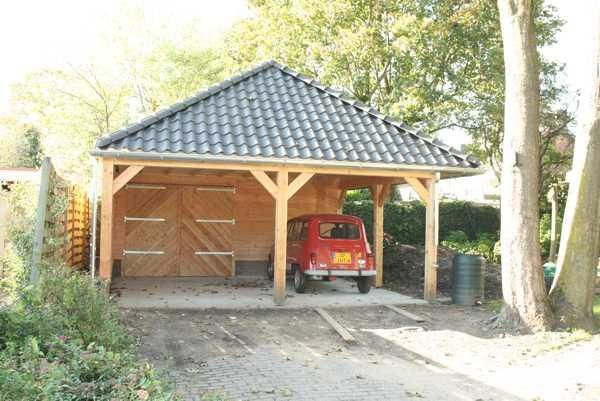Garage Met Carport : Garage met carport en schilddak