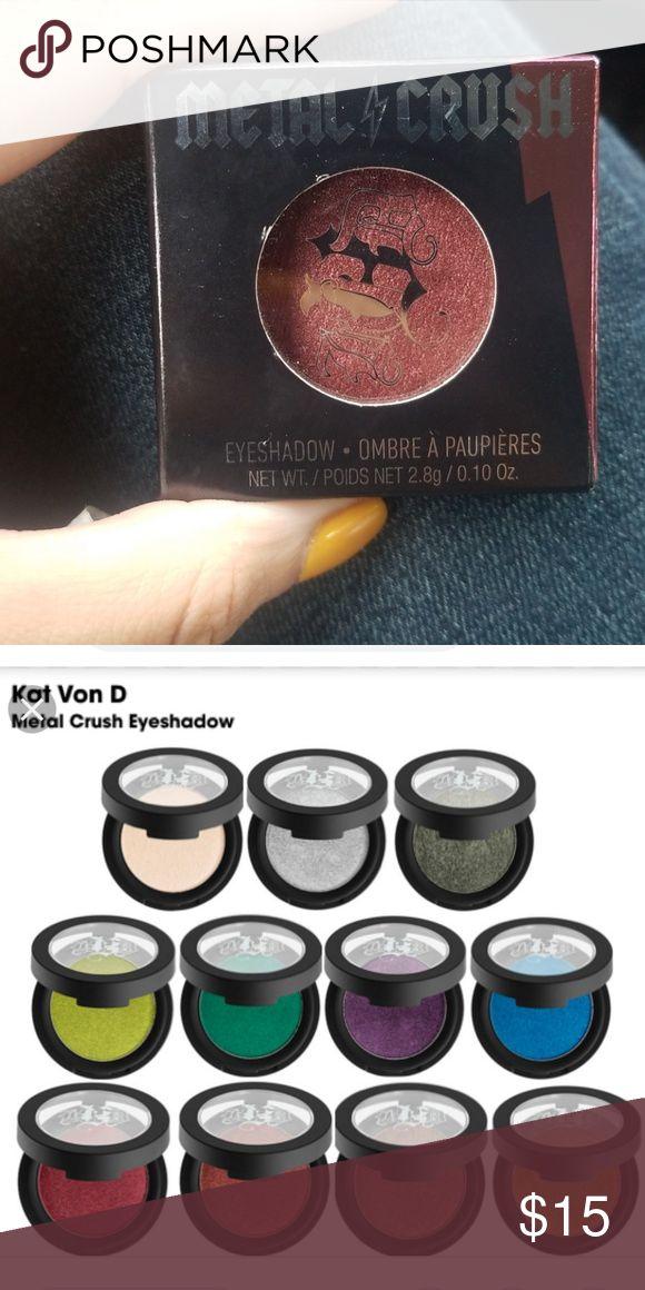 fc8e90eb741 Kat Von D Metal Crush Eyeshadow Kat Von D Metal Crush Eyeshadow in Raw  Power Authentic