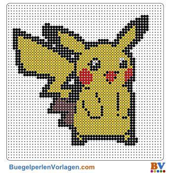 Pikachu Bugelperlen Vorlage Auf Buegelperlenvorlagen Com K