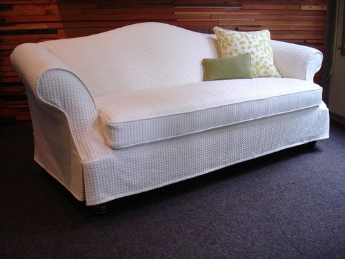 Custom slipcover (organic cotton/bamboo) traditional sofas