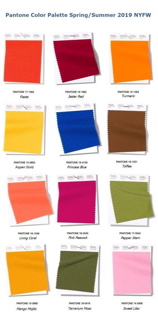 Модные цвета Panton Весна - Лето 2019
