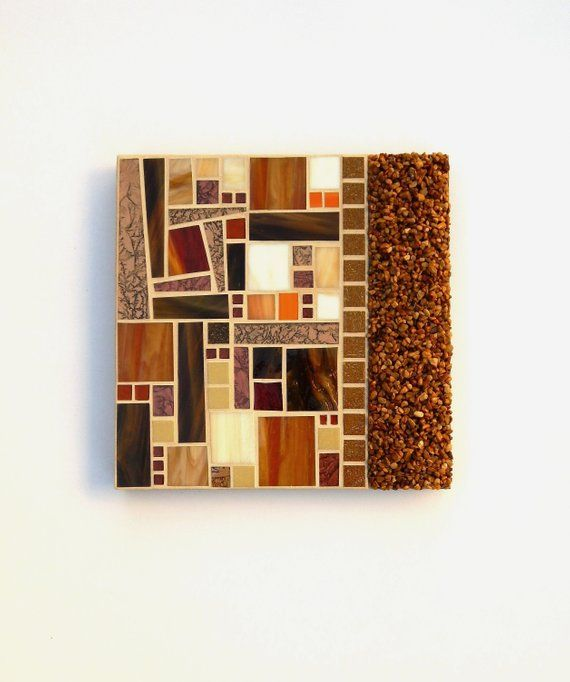 Mosaic Wall Art Crunchy Leaves Contemporary Stained Gl Gravel