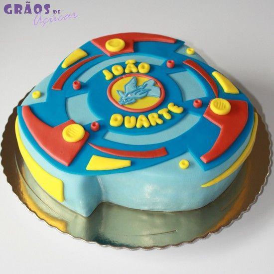 Bolo Beyblade Grãos De Açúcar Bolos Decorados Cake Design 2daaeb5a2b