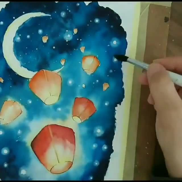 Amazing artwork!🌌 Do you agree? This artist loves to draw peacefull drawings and illustrations mostly  By @emines_paint 💫  Release your creativity with a BONUS eBook Library by buying NIL Tech Pencil Set, just click ➡️THE WEBSITE LINK  Follow us on: 👉FB /NiLTechClub🎨 👉IG @love_to_draw_nil 🎨 👉Twitter @LoveToDrawNIL  👉Pinterest @NiLTechArt ✔️For More Great works ✔️Chance to get featured  #art #love #drawing #draw #picture #beautiful #niltech #watercolor #watercolour #blue #night