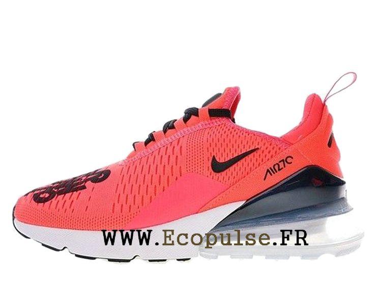 info for 85526 9782a Nike Air Max 270 Flyknit Chaussure Officiel Nike Running Prix Pour Homme  Rouge blanc noir BQ0742-996-Voir Nike hommes, dames et bébés chaussures de  course.