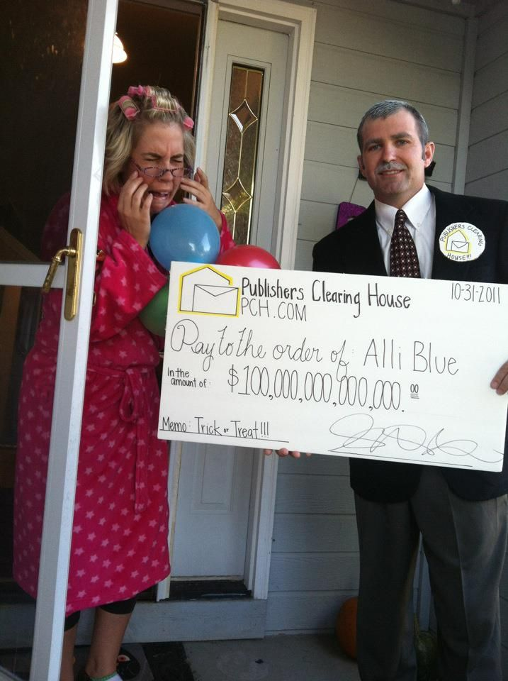 Publishers Clearing House Costumes! Such a hit! And I got