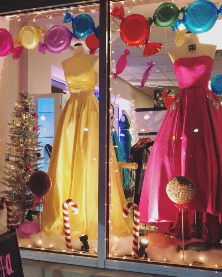 Glamour Gowns And More Christmas Candyland Window