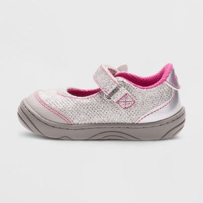 best service 3e3a9 3a816 Baby Girls  Surprize by Stride Rite Pauline Mary Jane Shoes - Silver 4