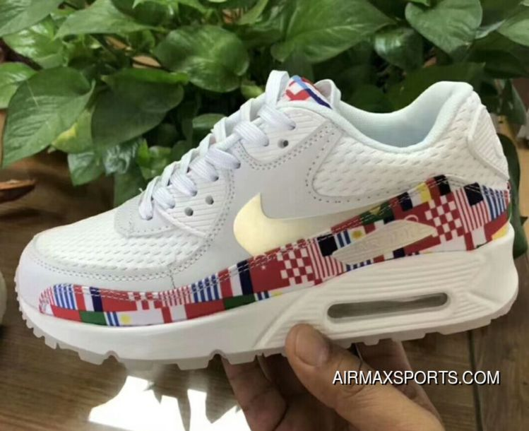 b2e59079127 Nike Air Max 90 NIC QS World Cup Limited International Flag AO5119-100 2018  New Style