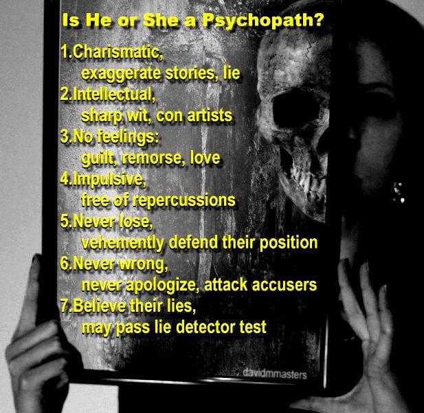 signs of a female psychopath