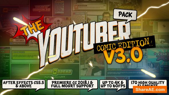 Videohive The YouTuber Pack - Comic Edition V3 0