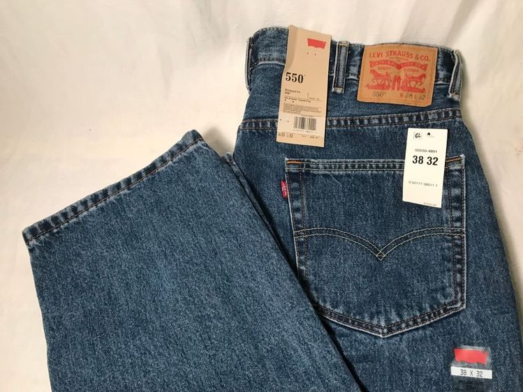 b18a5e9d Levis 550 Relaxed Fit Tapered Leg Blue Jeans Men Size 38 X 32 New #fashion