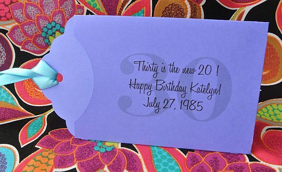 30th Birthday Party Favors