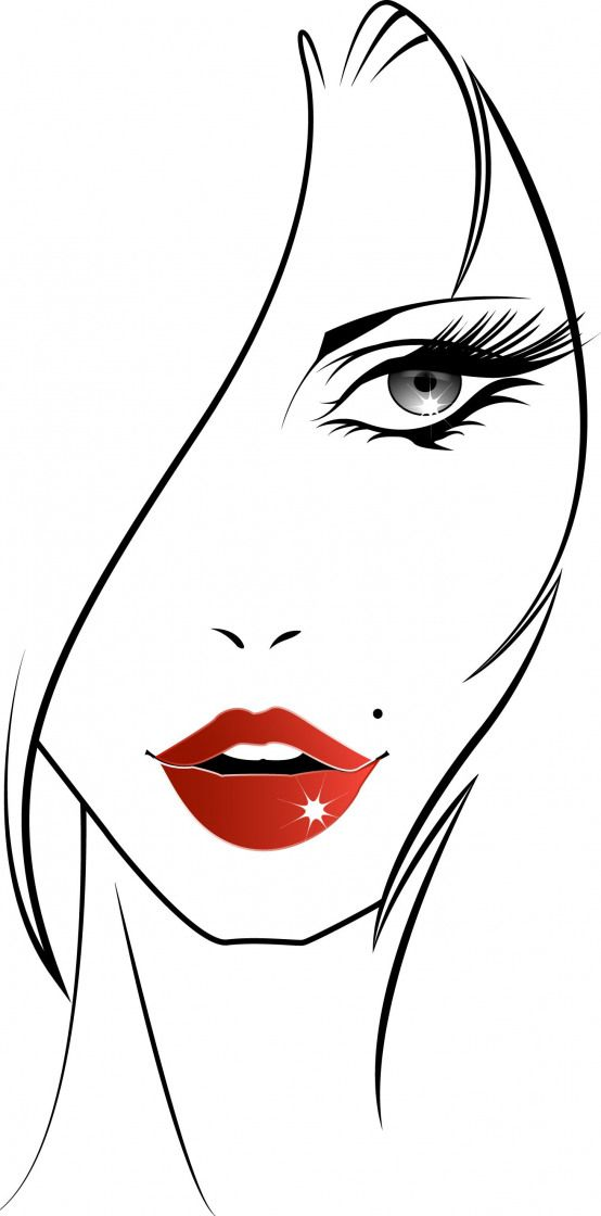 Woman face drawn and used for a t-shirt #womanface #redlips #t-shirt #mode #fashion #illustration #t-shirt #t-shirt #illustration