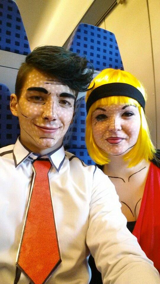 Roy Lichtenstein Halloween Costume.Roy Lichtenstein Carnaval Costume