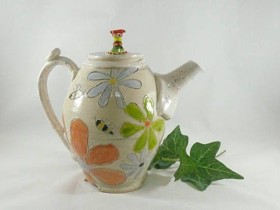 Ceramic Teapot Whimsical Tea Pot With Feet Set Wonderland