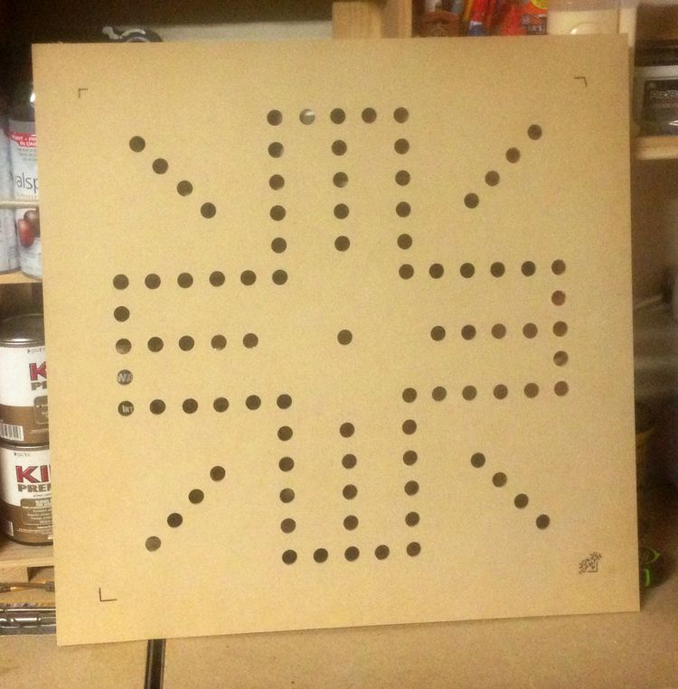Router Template For A 24x24 Wahoo Board 1 4 MDF