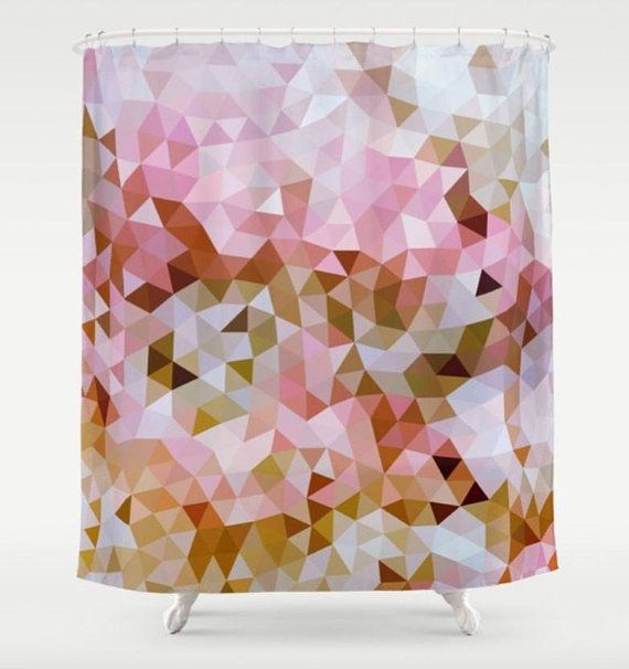 Pink And Brown Shower Curtain Wwwgenialfotocom