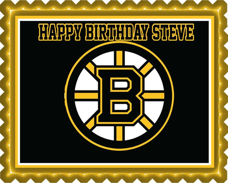 Boston Bruins Edible Birthday Cake Topper