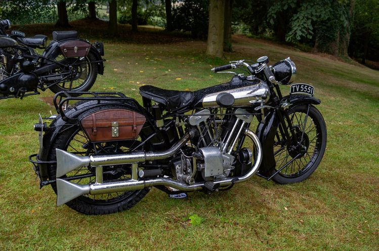 A magnificent Brough Superior SS100, the very epitome of 1930s two-wheel superiority. Another example originally registered in Nottingham