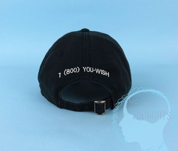 177fe9796 Items similar to 1 (800) YOU-WISH Dad Hat Embroidered Black Baseball Cap  Low Profile Custom Strap Back Unisex Adjustable Cotton Baseball Hat on Etsy