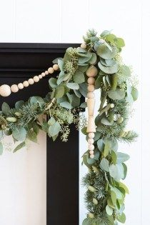 Wood bead garland are a beautiful way to add some texture and a new shape to your space - your can style them in so many ways...home decor, home decor ideas, home decor blog, home decor blogger, home style, home styling inspiration, interior decorating