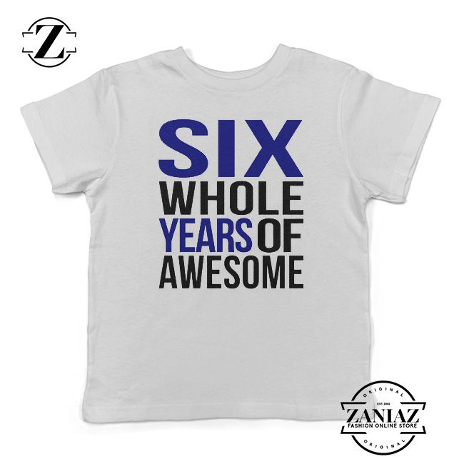 6 Year Old Boy Birthday Shirt Kids