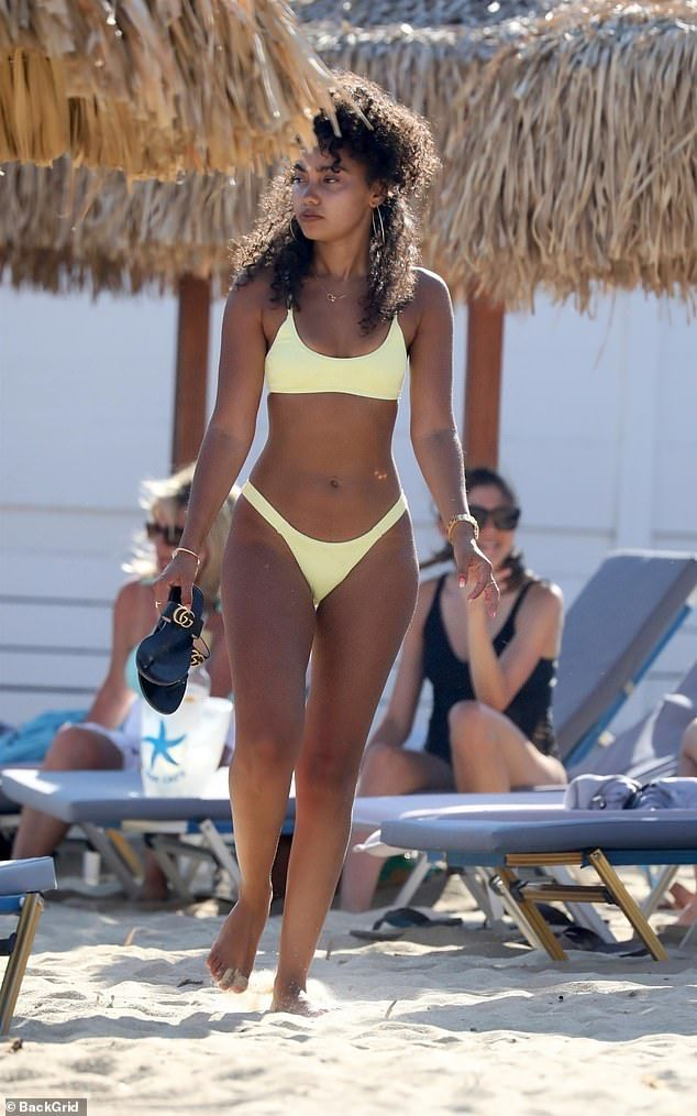 Leigh-Anne Pinnock shows off flawless physique with boyfriend Andre Grey on Mykonos holiday  | Daily Mail Online