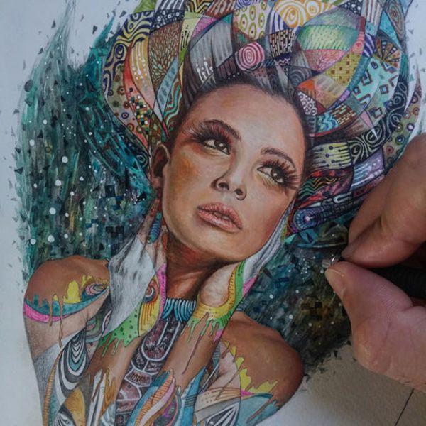 Ilustrações bonitas e inspiradoras de Ronald Restituyo
