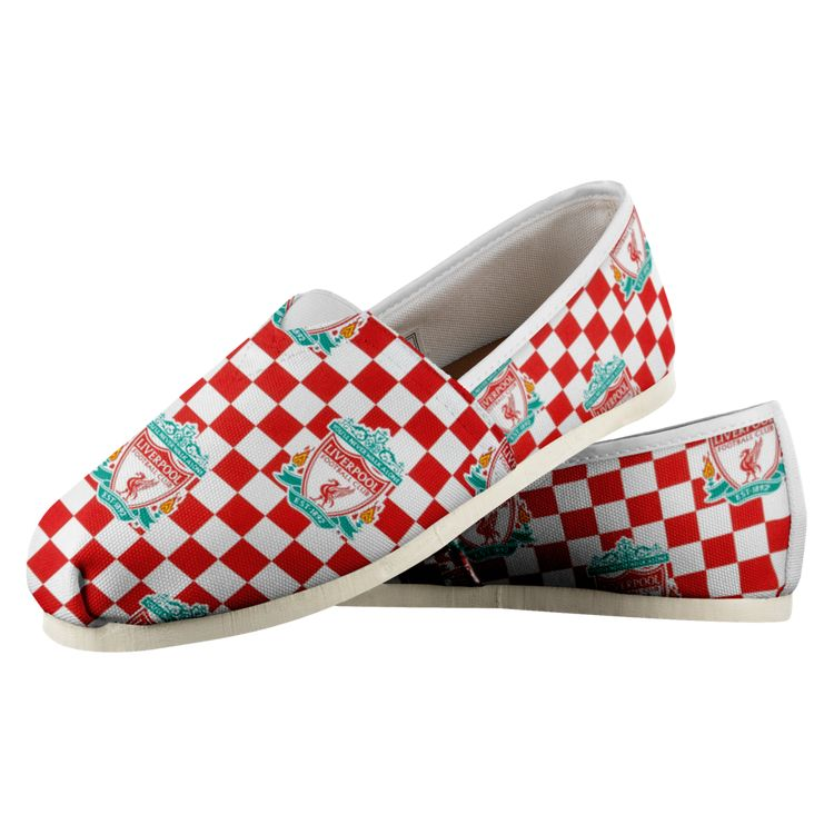 ddd7105135 Customized Liverpool FC Design Print Casual Shoes, Women's, White