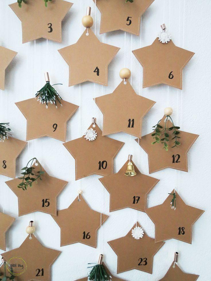DIY Paper star advent calendar - Ohoh Deco#diy #adventcalendar #star #papercraft #paperdecor #christmas