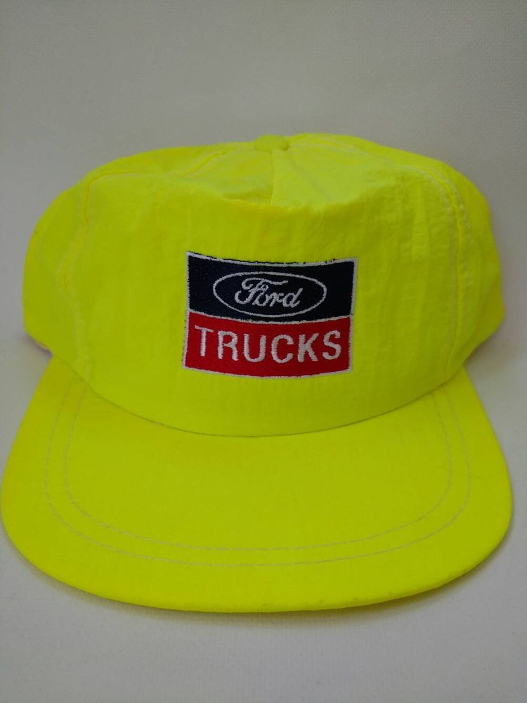 Neon Yellow Ford Trucks 1980s Hat Vintage Snapback Trucker Hat Retro by  RockabillyPinUps on Etsy bd0866a2fa71