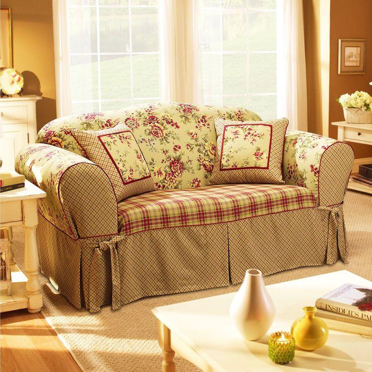 Sure Fit Lexington Washable Sofa Slipcover Taupe Tan Fl