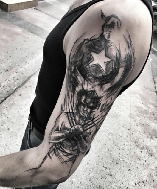 54282ea08 Captain America Tattoo - InkStyleMag