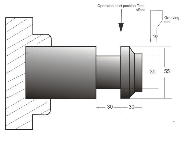 G75 FANUC CANNED CYCLE GROOVING CNC PROGRAM   EXAMPLE